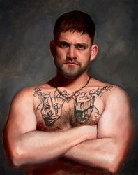 James Burrow by Vincent Kamp - Original sized 16x20 inches. Available from Whitewall Galleries